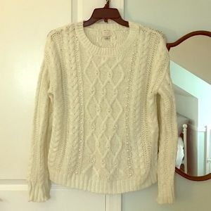 A New Day- faux pearl detail cozy knit sweater